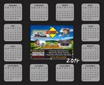 Custom Re-positionable Year At Glance Calendar / Full Color Custom Picture