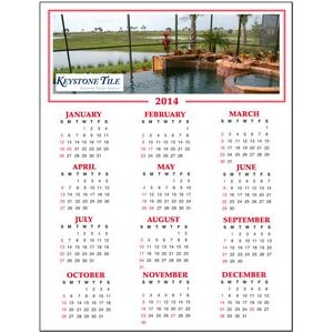 Re-positionable Year At Glance Calendar w/Full Color Custom Picture