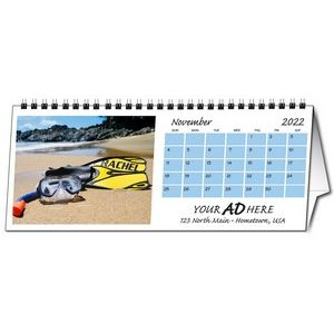 "In the Image 12 Image Horizontal Desk Calendar (11""x4.5""/ Printed 1 Side)"