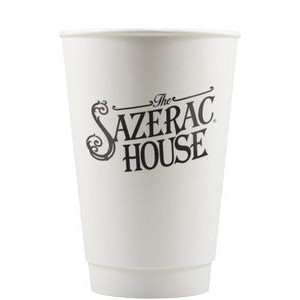 16 oz Insulated Paper Cup - White