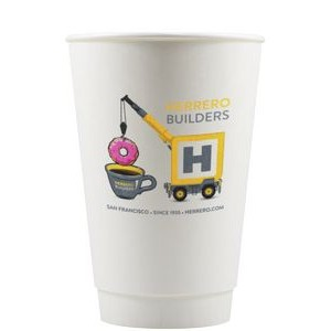 16 oz Insulated Paper Cups - White