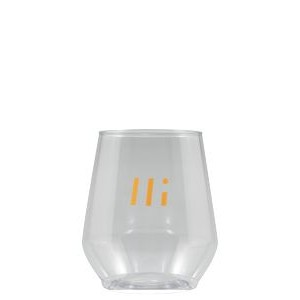 12 oz Clear Plastic Reserv™ Stemless Glass