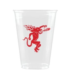 10 oz Soft Sided Clear Plastic Cup