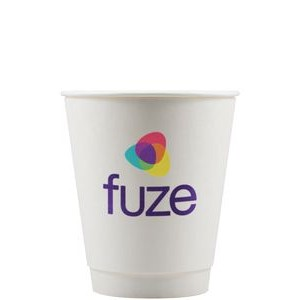12 oz Insulated Paper Cups - White