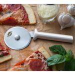 Custom Pizza Cutter w/ Silver Aluminum Handle