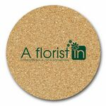 Custom Round Soft Cork Mats - (8 1/2
