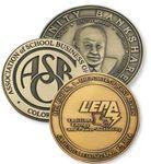 Custom Die Struck Brass Medallions/Paperweights (2