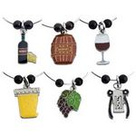 Custom Wine Themed Stock Wine Charm (Set of 6)