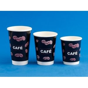12 Oz. Innoxious Disposable Paper Cup with style of two-double hollow for one-time use