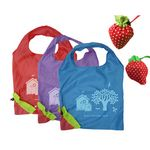 Custom Polyester Strawberry Shopping Bag