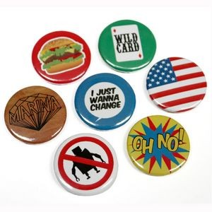 "2 9/16"" Round Shape Tin Button / Badge"