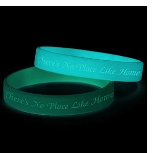 Debossed and glow in the dark Silicone Bracelet