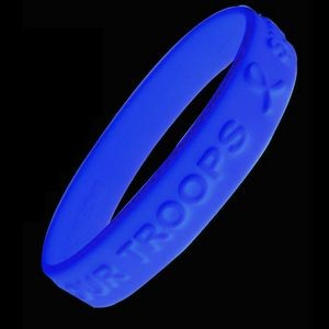 Embossed and glow in the dark Silicone Bracelet