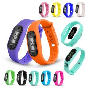 Multi-functional Silicone Wrist Pedometer Watch