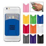 Custom Logo Silicone Phone Pocket with Finger Strap