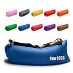 Custom Inflatable Lounger Hammock Portable Air Couch Air Filled Beach Lounger