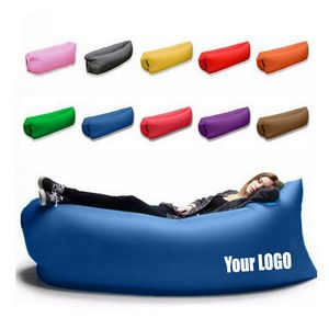 Inflatable Lounger Hammock Portable Air Couch Air Filled Beach Lounger