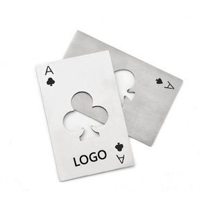 Stainless Steel Poker Playing Card Bottle Opener