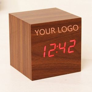 Voice-controlled LED Wood Clock
