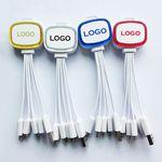 Custom LED Flashing Multi USB Phone Charging Cable 4 In 1