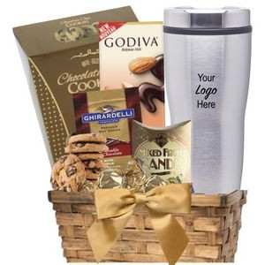 Cocoa & Cookie Basket with Travel Tumbler
