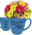 Custom Fresh Flower Thank You Gift Mug