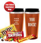Custom YOU ROCK! Candy Filled Tumbler (Orange)
