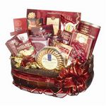 Custom Burgundy Corporate Gift Baskets