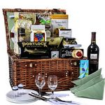 Custom Picnic in The Park Wine Basket