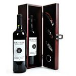 Custom Wine & Wood Chest w/Accessories
