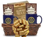 Custom Basket of Cocoa and Cookies