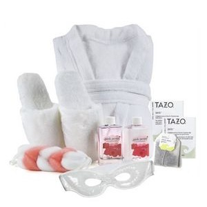 Luxury Robe, Slippers, Eye Mask and Spa Gift Set