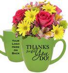 Custom Thank You Fresh Flowers Gift Mug