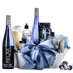 Custom Wine & Spa Gift Basket