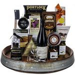 Custom Wine Barrel Gourmet Tray