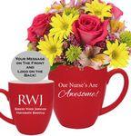 Custom Employee Appreciation Fresh Flower Gift Mug