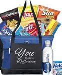Custom You Make A Difference Snack Tote (Blue)