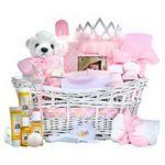 Custom Baby Princess Girl Gift Basket
