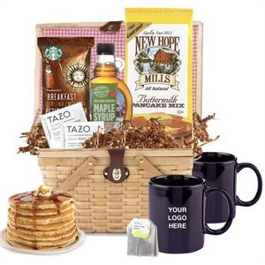 Breakfast Gift Basket w/Mugs