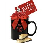 Custom Gift Card Gift Mug with Biscotti