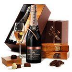 Custom Champagne & Godiva Gift Box