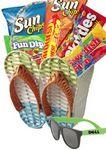 Custom Flip Flop Summer Gift Basket