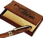 Custom Rosewood Card Case & Ballpoint Pen