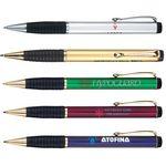 Custom Twist Action Ballpoint Pen w/ Comfort Rubber Grip