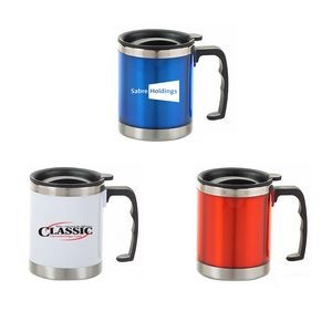 16 Oz. Wide Stainless Steel Mug w/Handle