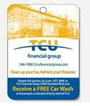 Custom Rectangle Detachable Coupon Air Freshener