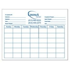 "Large Rectangle Dry Erase Calendars - 11""x8.5"""