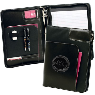 Winn Binder 3-Ring Zip Portfolio