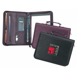 Executive Binder 3-Ring Zip Portfolio w/Handle