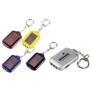 Solarian 3-LED Solar Flashlight Keychain
